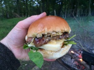 Wild Garlic Yarg burger
